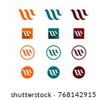 unique initial letter w for... | Shutterstock .eps vector #768142915