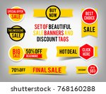set of banner elements  offer... | Shutterstock .eps vector #768160288