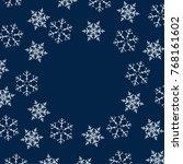 frame of snowflakes. christmas... | Shutterstock .eps vector #768161602