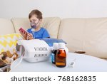 sick chid with pediatric... | Shutterstock . vector #768162835