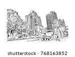 sketch illustration of san... | Shutterstock .eps vector #768163852