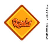 raw lettering label isolated.... | Shutterstock .eps vector #768165112