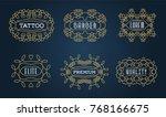 set of luxury insignias... | Shutterstock . vector #768166675