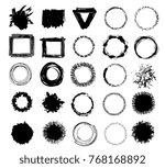 vector big set of simple... | Shutterstock .eps vector #768168892