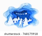 3d abstract paper cut... | Shutterstock .eps vector #768175918