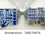 warehouse of components for the ... | Shutterstock . vector #768176476