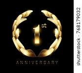 1st years golden anniversary... | Shutterstock .eps vector #768179032