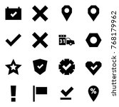 origami style icon set  ... | Shutterstock .eps vector #768179962