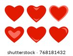 a set of hearts. red hearts... | Shutterstock .eps vector #768181432