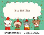 happy new year 2018 greeting... | Shutterstock .eps vector #768182032