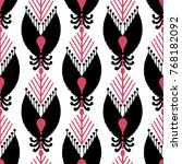 ikat seamless pattern design...   Shutterstock .eps vector #768182092