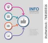 vector infographic template for ... | Shutterstock .eps vector #768183316