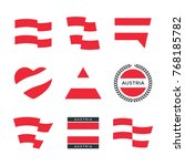 austria flag vector icons and... | Shutterstock .eps vector #768185782