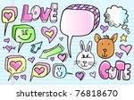 color doodle sketch speech... | Shutterstock .eps vector #76818670