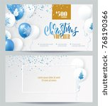 christmas voucher templates.... | Shutterstock .eps vector #768190366