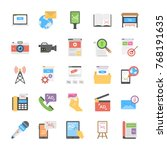 flat icon design  media and... | Shutterstock .eps vector #768191635