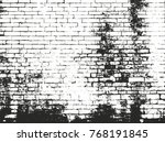 distressed overlay texture of... | Shutterstock .eps vector #768191845