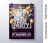 new year party celebration... | Shutterstock .eps vector #768192526