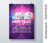 new year party celebration... | Shutterstock .eps vector #768192532