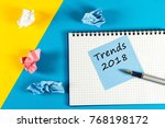 trends 2018. what to expect...   Shutterstock . vector #768198172