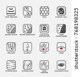 skin icon and vector set  ... | Shutterstock .eps vector #768198325