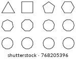 geometric shapes set vector ...   Shutterstock .eps vector #768205396