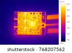thermal image photo  circuit... | Shutterstock . vector #768207562