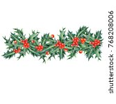 colored pencils christmas... | Shutterstock . vector #768208006