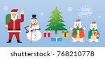a set of cute cartoon christmas ... | Shutterstock .eps vector #768210778