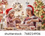 merry christmas and happy... | Shutterstock . vector #768214936