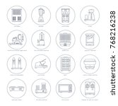 linear icons of appliances for... | Shutterstock .eps vector #768216238