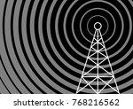 transmitter vector icon  | Shutterstock .eps vector #768216562
