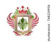 vintage heraldic insignia made... | Shutterstock .eps vector #768224956