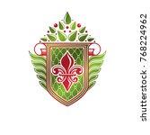 vintage heraldic emblem created ... | Shutterstock .eps vector #768224962