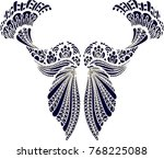 beautiful folk art  | Shutterstock .eps vector #768225088