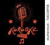 karaoke night and nightclub... | Shutterstock .eps vector #768228958