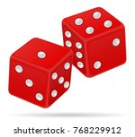 casino dice stock illustration... | Shutterstock . vector #768229912