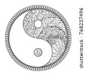 yin and yang. religion symbol.... | Shutterstock .eps vector #768237496