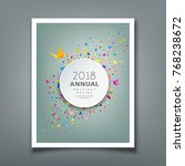 cover annual report colorful... | Shutterstock .eps vector #768238672