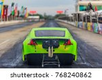 dragster race car down the race ... | Shutterstock . vector #768240862