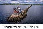 rockland harbor breakwater... | Shutterstock . vector #768245476