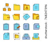 folder and file icons | Shutterstock .eps vector #768247396