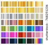 multicolored metallic gradient... | Shutterstock .eps vector #768251236