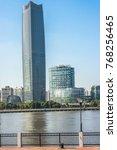 skyline view of shanghai... | Shutterstock . vector #768256465