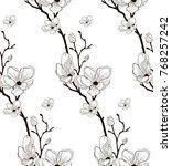 vector black decorative... | Shutterstock .eps vector #768257242