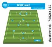 football  soccer  formation... | Shutterstock .eps vector #768266182