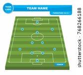 football  soccer  formation...   Shutterstock .eps vector #768266188