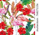 exotic vector print seamless... | Shutterstock .eps vector #768271156