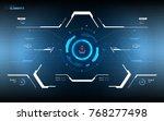 triangle futuristic hud concept.... | Shutterstock .eps vector #768277498