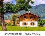 old bavarian farmhouse near... | Shutterstock . vector #768279712